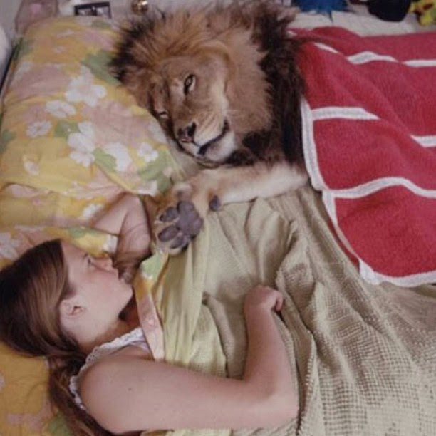 Melanie Griffith with Lion Neil