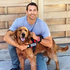 Brandon McMillan with Dog