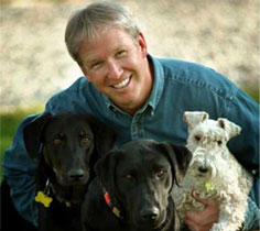 Dr. Marty Becker with dogs