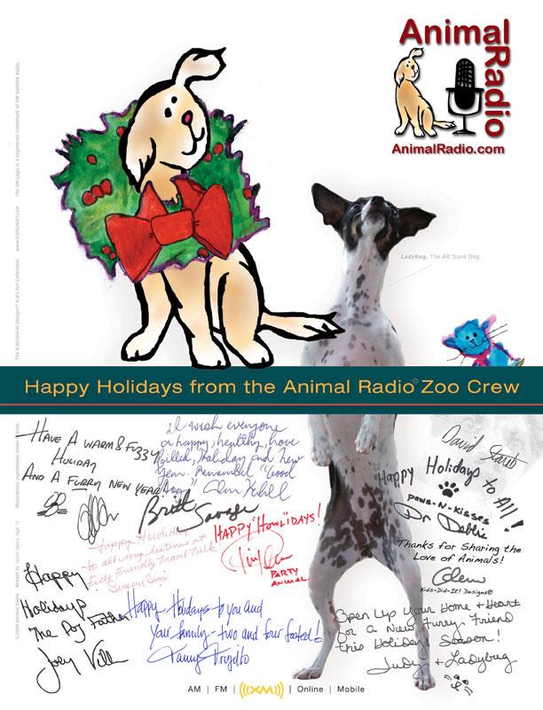 Happy Holidays from the Animal Radio Dream Team