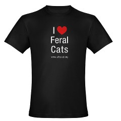 "I ""Heart"" Feral Cats T-Shirt"