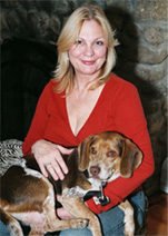 Paula Munier with her Beagle Freddie