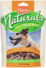 Hartz Naturals Real Beef Treats for Dogs