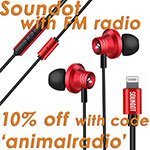 10 percent off Soundot wit code animalradio