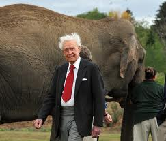 Bob Barker with Elephant