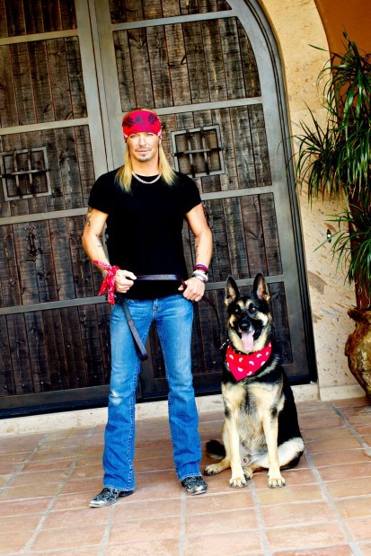 Bret Michaels with Dog