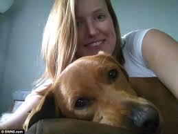 Emma Higgins with Dog