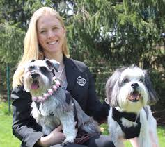 Kristen Hedderich with Dogs in Wedding Attire