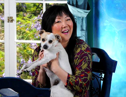 Margaret Cho with Dog