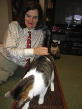 Paula Poundstone with Cats