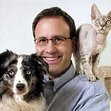 Steve Dale with Dog and Cat