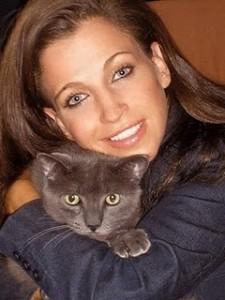 Wendy Diamond with Cat