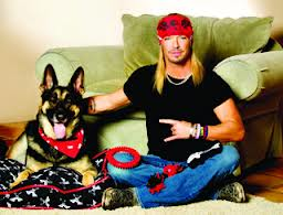 Bret Michaels and his dog