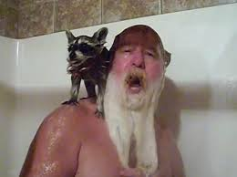Mark Coonrippy Brown Showering with Raccoon