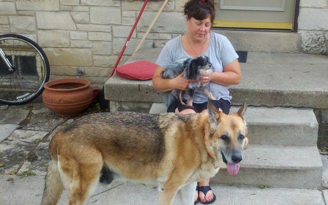 Dispatcher Lynn Willett adopts dog